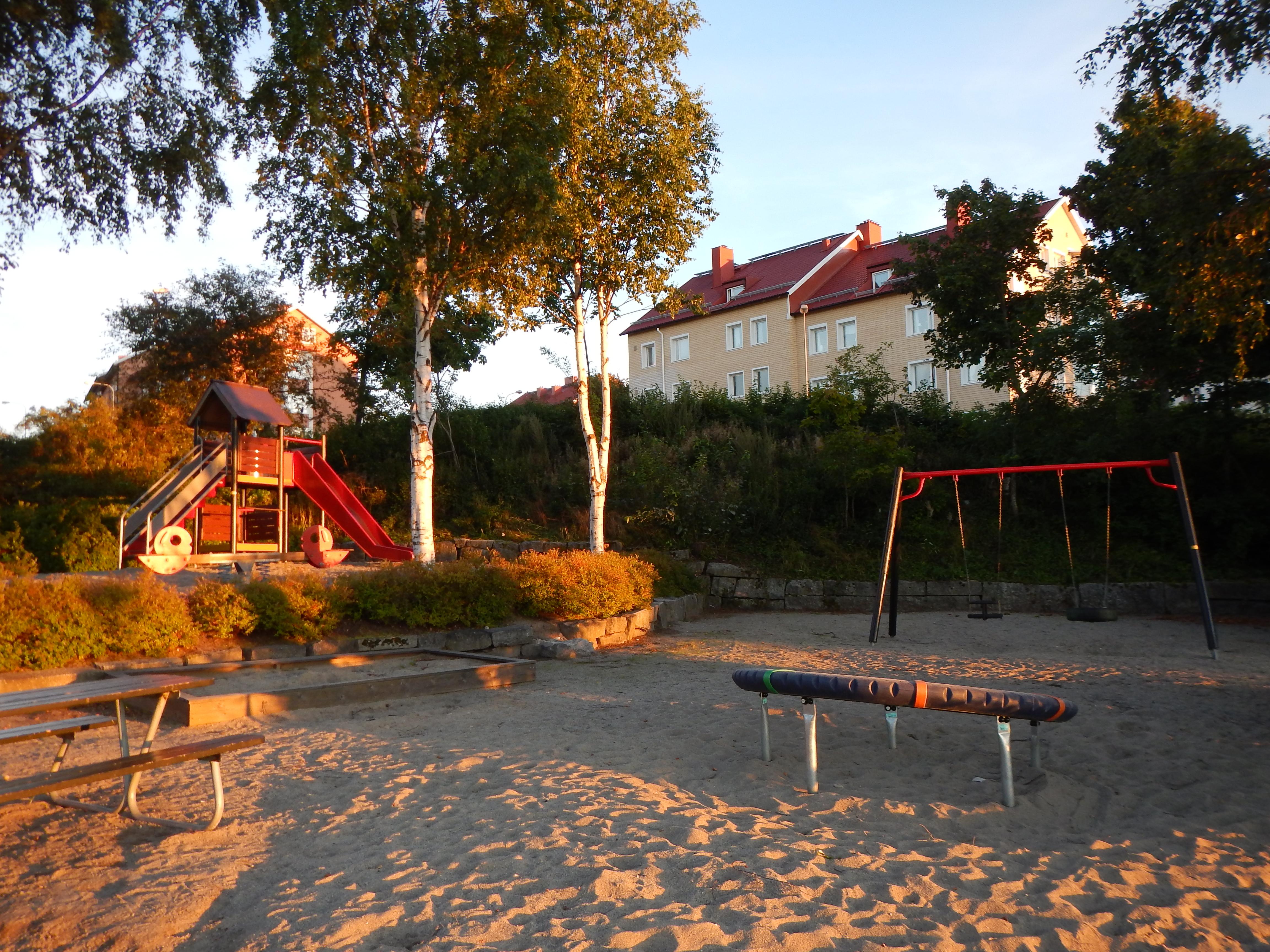 Lekplats i parken